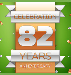eighty two years anniversary celebration design vector image