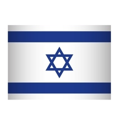 Flag icon Israel culture design graphic vector image