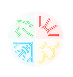 Four seasons signs set vector