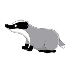 funny cartoon badger vector image