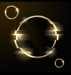 glitched abstract background - golden ring vector image