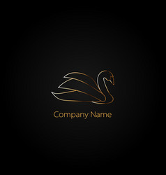 golden swan logo template logo for your business vector image