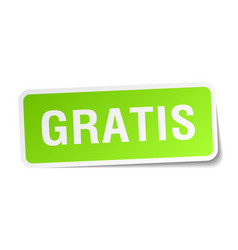 Gratis green square sticker on white background vector