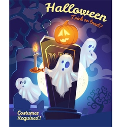 Halloween placard vector