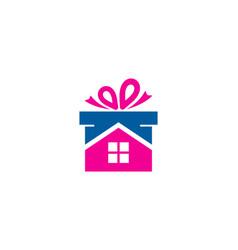 Home gift logo icon design vector