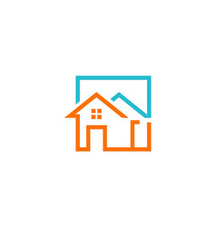 house construction icon logo vector image