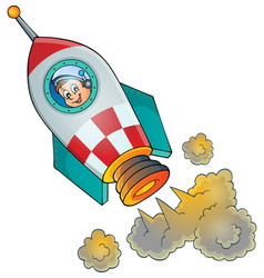 Image small spaceship vector