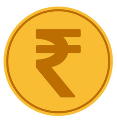 Indian rupee gold coin vector