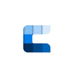 initial letter c square pixel logo design vector image