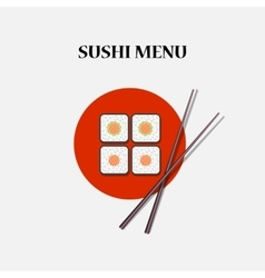 Japanese sushi and rolls vector