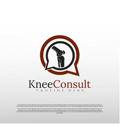 Knee bone logo can for use bone consultant icon vector