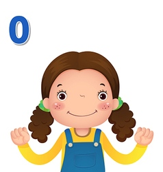 Learn number and counting with kids hand showing vector image