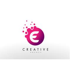 Letter e logo e letter design vector