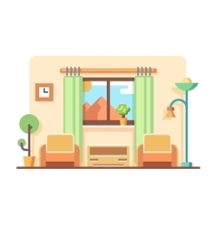 Living room concept vector image