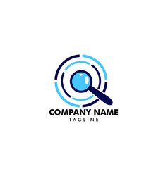 magnifying glass logo template design vector image
