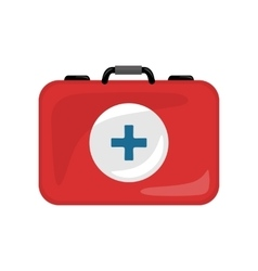 Medical Kit Icon Isolated Realistic Emergency Bag vector