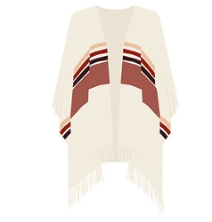 mexican poncho vector image