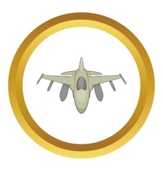 Military aircraft icon vector image