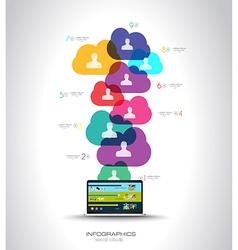 Modern Cloud Globals infographic concept vector