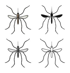 mosquito icon in cartoon style isolated on white vector image