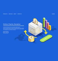 online charity donation website landing vector image