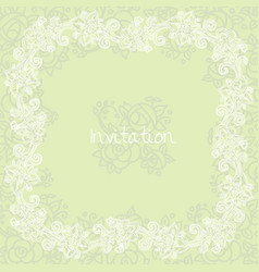 Ornate floral invitation card vector