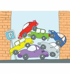 parking for cars vector image