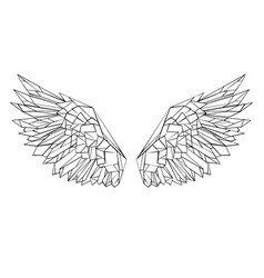 polygonal wings vector image