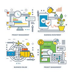 Project management business investment business vector