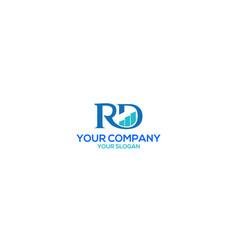 Rd financial advisor logo design vector