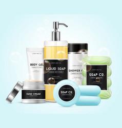 Realistic cosmetics set vector