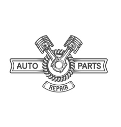 Repair service gear and pistons vector