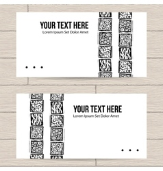 Set of Business Cards with Patterns vector image
