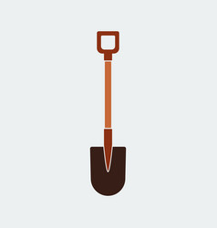 shovel iconflat design vector image