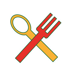 spoon and fork design vector image
