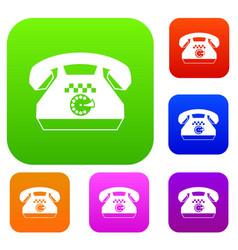 Taxi phone set collection vector