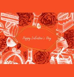 Valentines day poster greetings card or vector