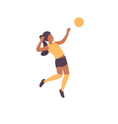 Volleyball woman vector