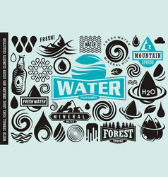 Water design elements collection vector