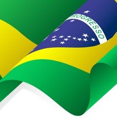 Waving brazil flag vector