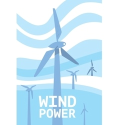 Wind power banner Renewable resources concept vector