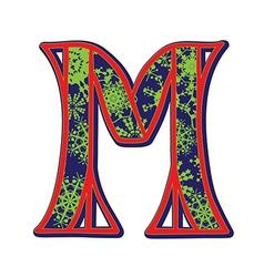 Winter letter M vector