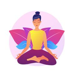 Yoga school concept metaphor vector
