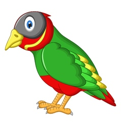 cute sparrow cartoon vector image vector image