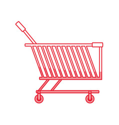 shopping cart isolated vector image vector image