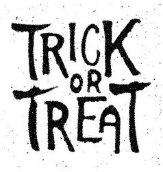 trick or treat halloween theme hand drawn vector image