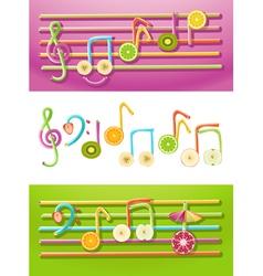 Fruit Music vector image