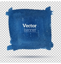 Hand drawn watercolor banner vector image vector image
