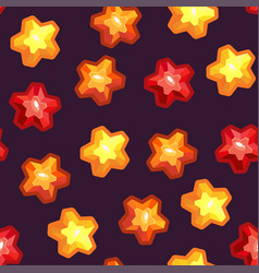 seamless texture with stars vector image vector image