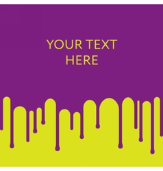 Dripping purple paint background Design template vector image